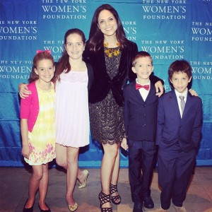 Soledad O'Brien with her children.